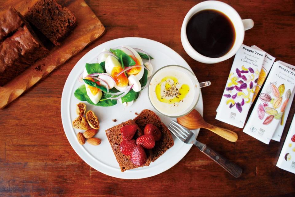 フェトレード・チョコのレシピ<br> 「フェアトレード・チョコレートのパウンドケーキ」