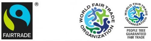 国際フェアトレード認証ラベルと、世界フェアトレード機関(WFTO)マーク